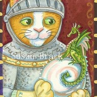 Art: A KNIGHT AND HIS DRAGON by Artist Susan Brack