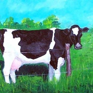 Art: Holstein Cow (sold) by Artist Ulrike 'Ricky' Martin