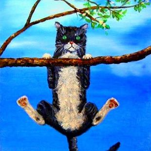 Art: Kitty in Trouble by Artist Ulrike 'Ricky' Martin