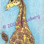 Art: 2012 Giraffe - Sold by Artist Kim Loberg