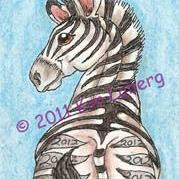Art: 2012 Zebra - SOLD by Artist Kim Loberg