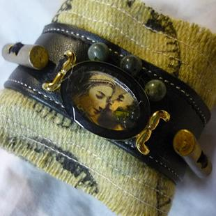 Art: He and She Cuff - SOLD by Artist Vicky Helms