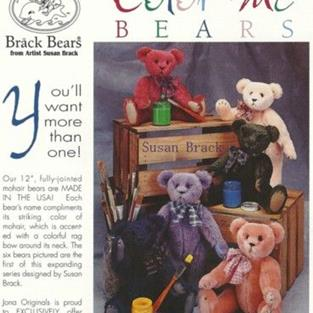 Art: Jona Originals BRACK BEARS COLOR ME BEAR Collection by Artist Susan Brack