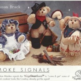 Art: BRACK BEARS COWBOY & INDIAN by Artist Susan Brack