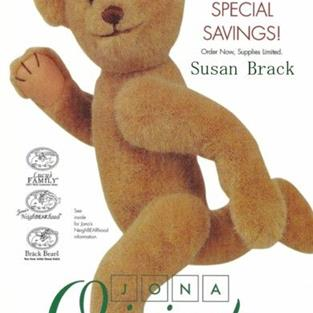 Art: Jona Originals BRACK BEARS Cover  Articulated Teddy by Artist Susan Brack