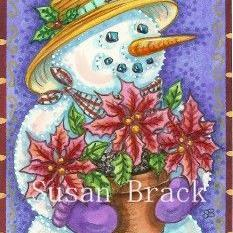 Art: Dover Pub.  CHRISTMAS BOUQUET by Artist Susan Brack