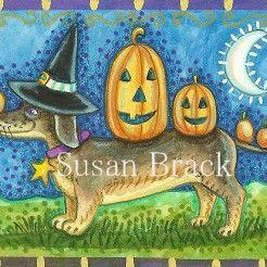 Art: DOVER PUB. HOT DOG AND PUMPKINS by Artist Susan Brack