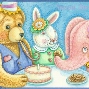 Art: PARTY FOR PINKY by Artist Susan Brack