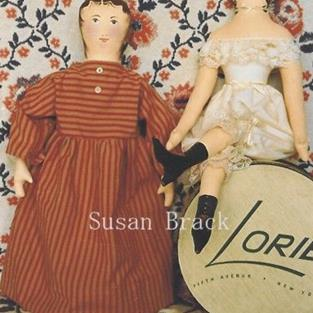 Art: Primitive Folk Art Painted Cloth Dolls by Artist Susan Brack