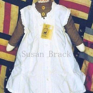 Art: CLOVIS Primitive Folk Art Doll by Artist Susan Brack