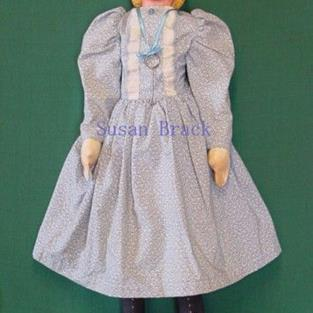 Art: CONSTANCE Primitive Folk Art Doll by Artist Susan Brack