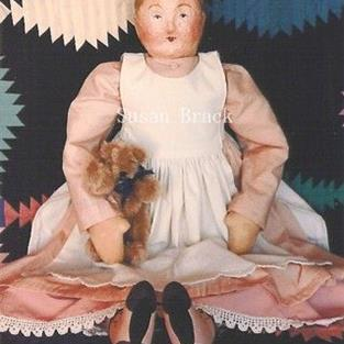 Art: FINELLA Primitive Folk Art Doll by Artist Susan Brack