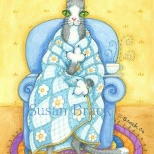 Art: Hiss N' Fitz Series - Inside  GET WELL SOON   Card by Artist Susan Brack