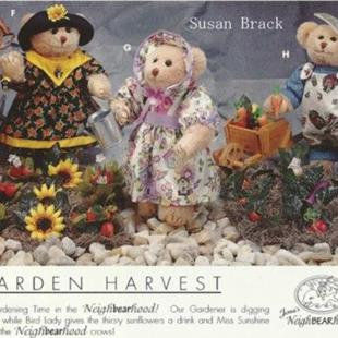 Art: Jona Originals BRACK BEARS GARDEN HARVEST by Artist Susan Brack