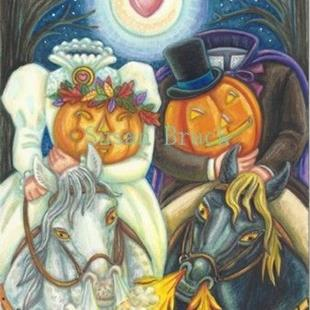 Art: Halloween Series : Inside HAPPY HALLOWS EVE    Card by Artist Susan Brack