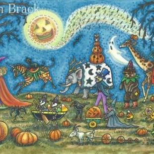 Art: Halloween: WHEN ZOMBIES WALK & GOBLINS TROT It's The Hallows Eve Parade by Artist Susan Brack