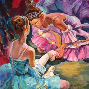 Art: Ballerina's hard work by Artist Luda Angel