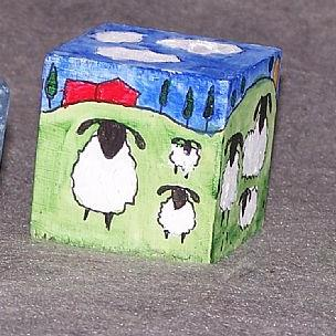Art: Sheep in the Day and in the Night by Artist Nancy Denommee