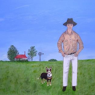 Art: Country Boys (Not For Sale) by Artist Fran Caldwell