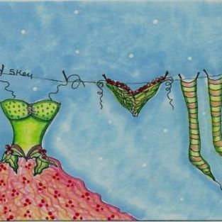 Art: Fairy Laundry Day-Sold by Artist Sherry Key