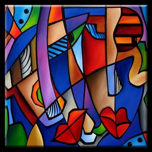 Art: Cubist 107 3636 Seeing Sounds by Artist Thomas C. Fedro