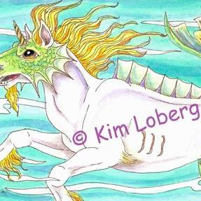 Art: Armored Sea Horse by Artist Kim Loberg