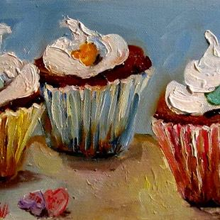 Art: Kiss Me Cupcakes by Artist Delilah Smith