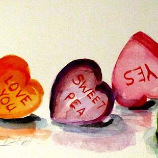 Art: Candy Hearts by Artist Delilah Smith