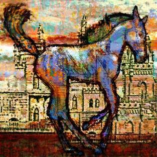 Art: Baby Horse of the Apocalypse by Artist Mary Ogle