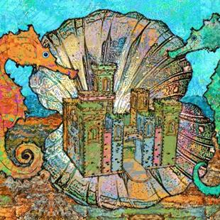 Art: Castle of the Celtic Seahorse by Artist Mary Ogle
