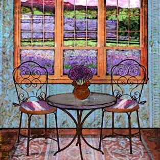 Art: Lavender Bistro by Artist Mary Ogle