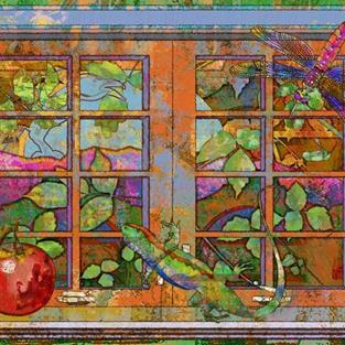 Art: Ojai Window by Artist Mary Ogle