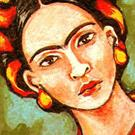 Art: ACEO:  'Frida' by Artist Patience