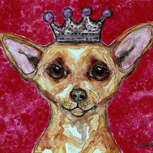 Art: Chihuahua and Pink by Artist Melinda Dalke