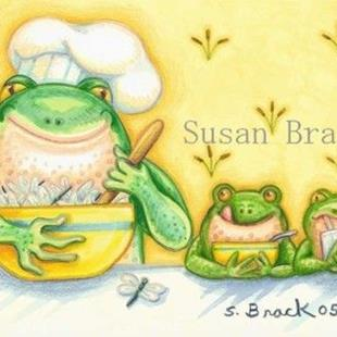 Art: DRAGONFLY MUNCHIES by Artist Susan Brack
