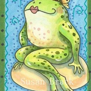 Art: FLIRTY FROGGETTE by Artist Susan Brack