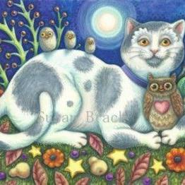 Art: OWLS AND THE PUSSYCAT by Artist Susan Brack