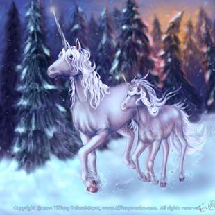 Art: First Snow by Artist Tiffany Toland-Scott
