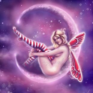 Art: peppermint moon by Artist Tiffany Toland-Scott