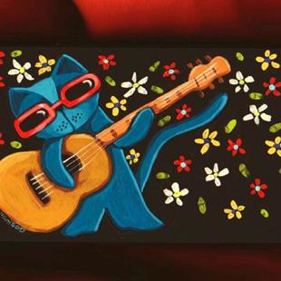 Art: Cat Blues by Artist Cindy Bontempo (GOSHRIN)