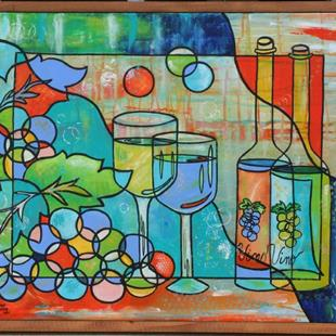 Art: Happy Hour For Two by Artist Melanie Douthit