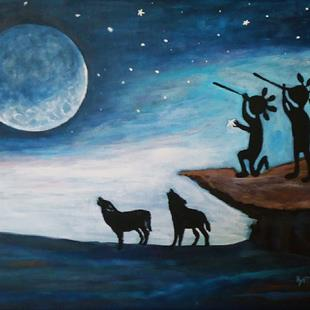 Art: Honoring Mother Moon by Artist Kathy Hatt