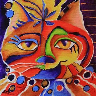 Art: Wild Cat by Artist Deb Harvey