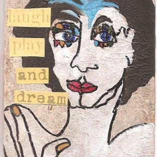 Art: Laugh Play and Dream SOLD by Artist Nancy Denommee