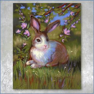 Art: Spring Bunny - (Sold) by Artist Patricia  Lee Christensen