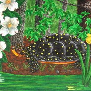 Art: Spotted in Springtime (SOLD) by Artist Jackie K. Hixon