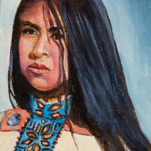Art: Apache Dance by Artist Kathy Hatt