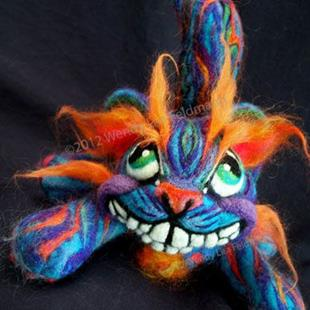 Art: Mad Cheshire Cat by Artist Wendy L Feldmann