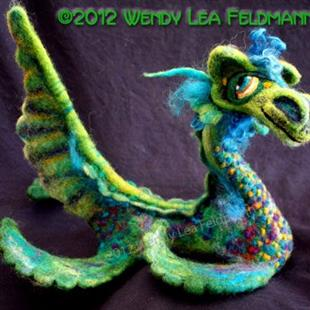 Art: Nessie the Sea Monster by Artist Wendy L Feldmann