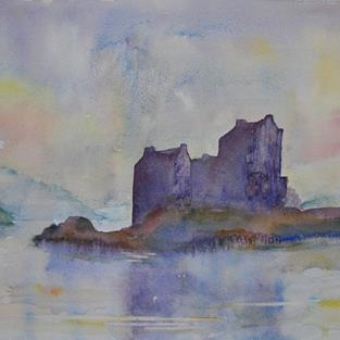 Art: Eilean Donan Castle by Artist John Wright